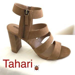 Tahari Media Block Heel Strappy Heels Sandals 9.5M